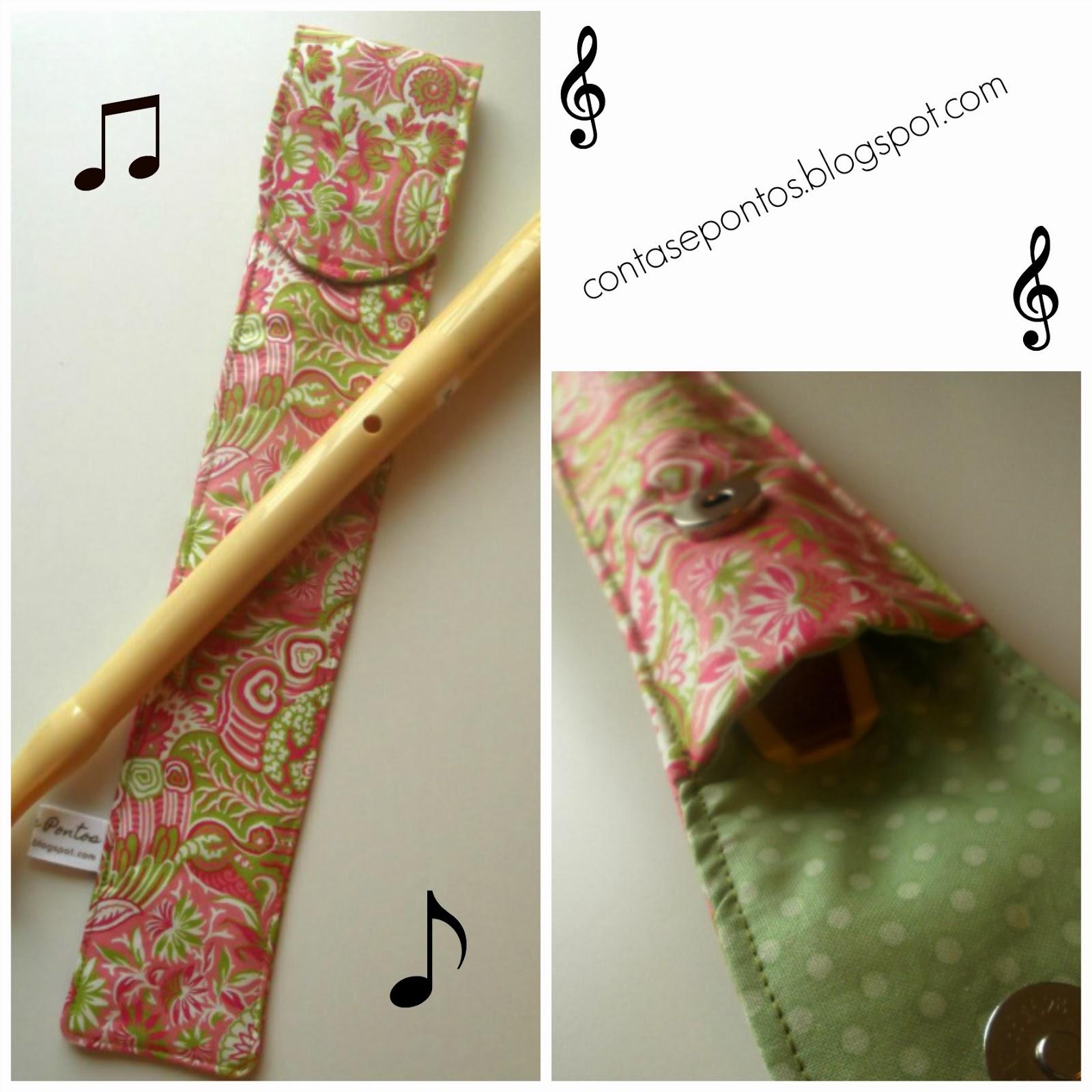 Capa de flauta em tecido