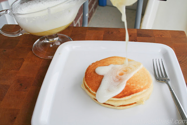 Meyer Lemon and Greek Yogurt Pancakes - Oh Sweet Basil