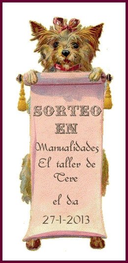 SORTEO EN MANUALIDADES EL TALLER DE TERE