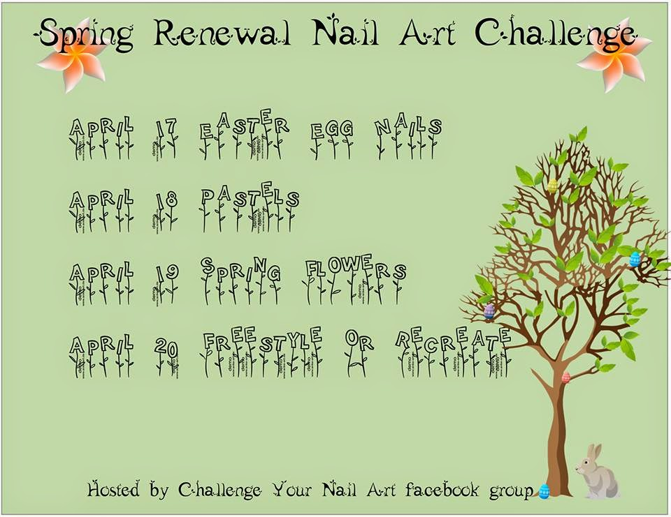 Spring Renewal Nail Art Challenge- Challenge Your Nail Art