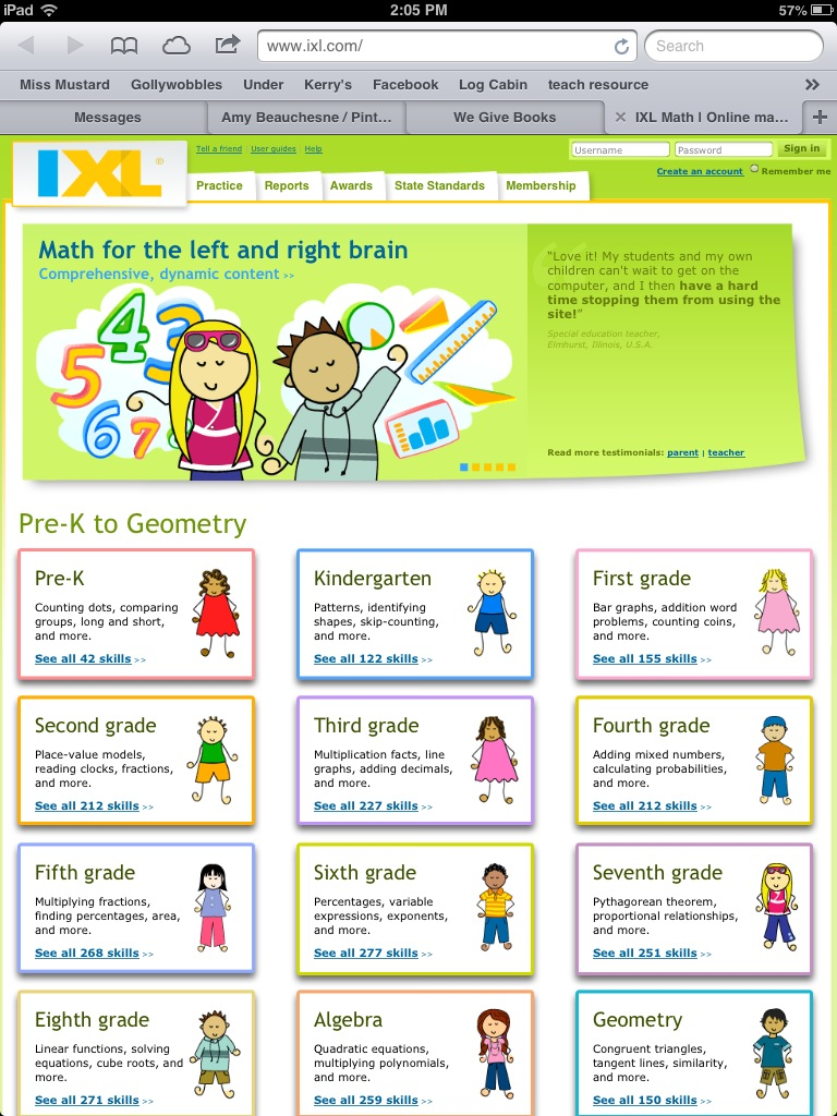 4B - Class Blog: ixl.com - Great Math Website