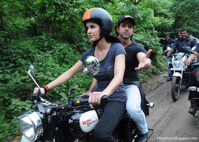 katrina is driving bike