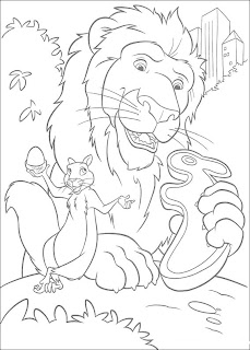 coloriage-roi-lion