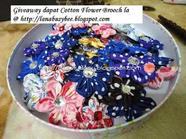 Giveaway dapat Cotton Flower Brooch la
