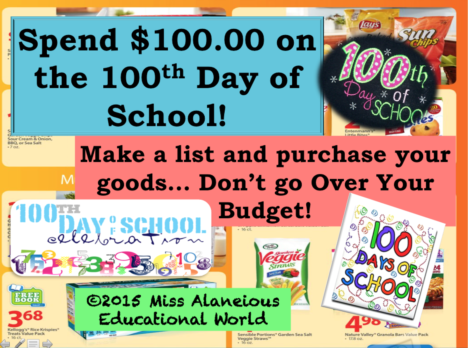 100th Day of School 2015 It's The 100th Day of School