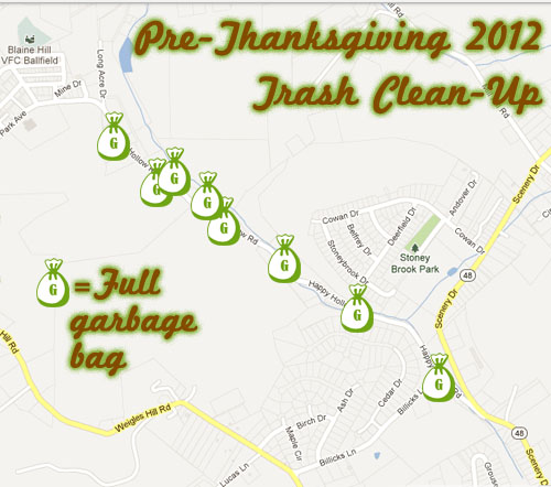 trash pickup map