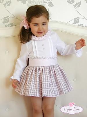 falda y blusa niñas