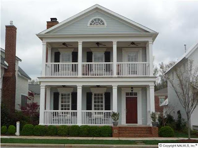 An urban cottage back porches for 2 story porch columns