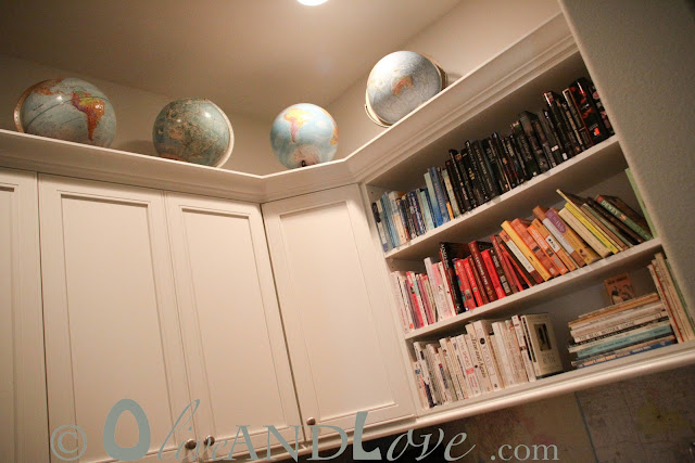 decorating with old world globes