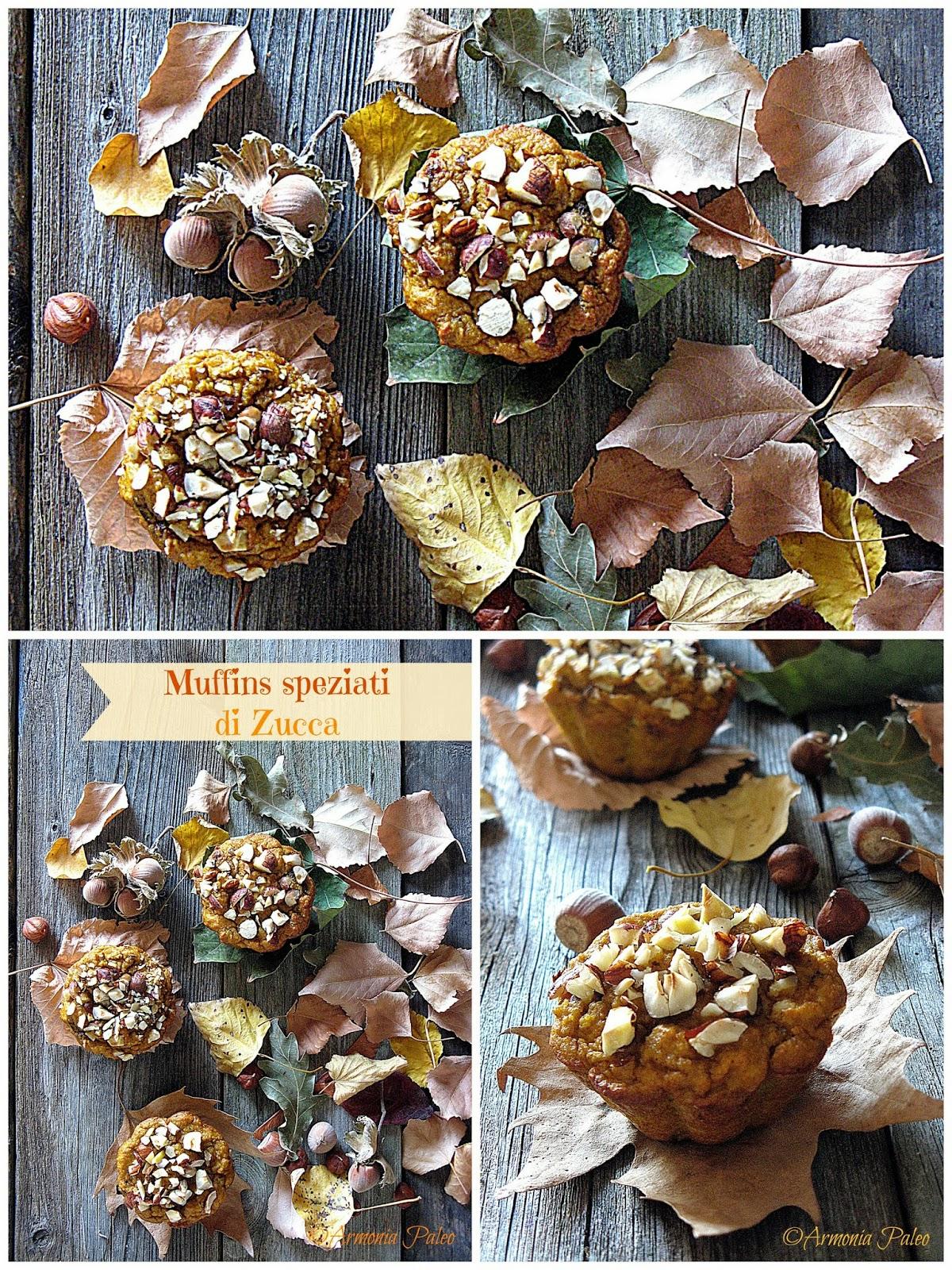 Muffins Speziati di Zucca di Armonia Paleo