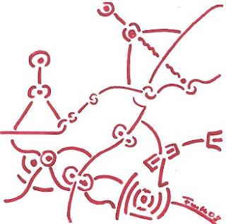 Zeichnung Bild / painting picture : kybernetischer Organismus / cybernetic organism