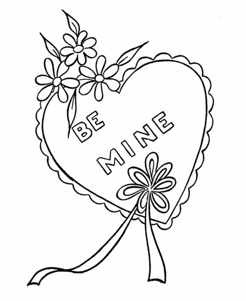 Beautiful Valentine's Day Hearts To Color Free