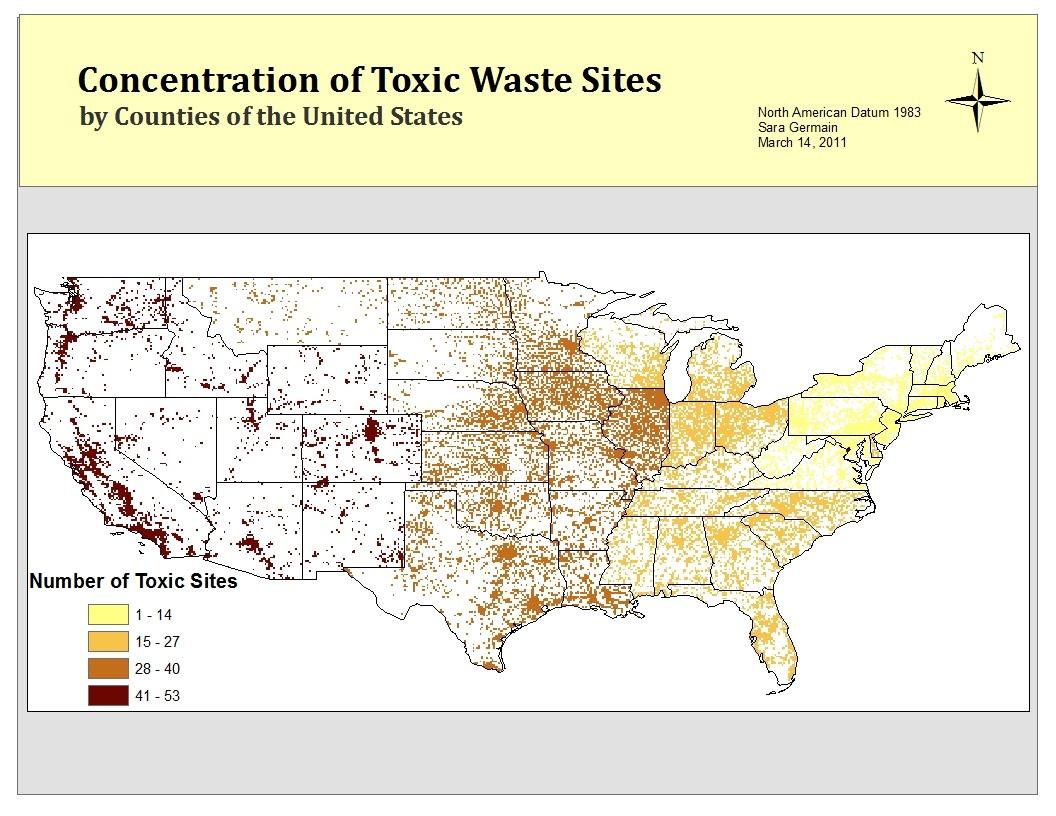 toxic sites 2010 environmental protection agency epa