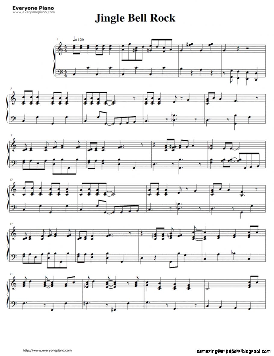 Jingle Bell Rock Bobby Helms Stave Preview 1 Free Piano Sheet