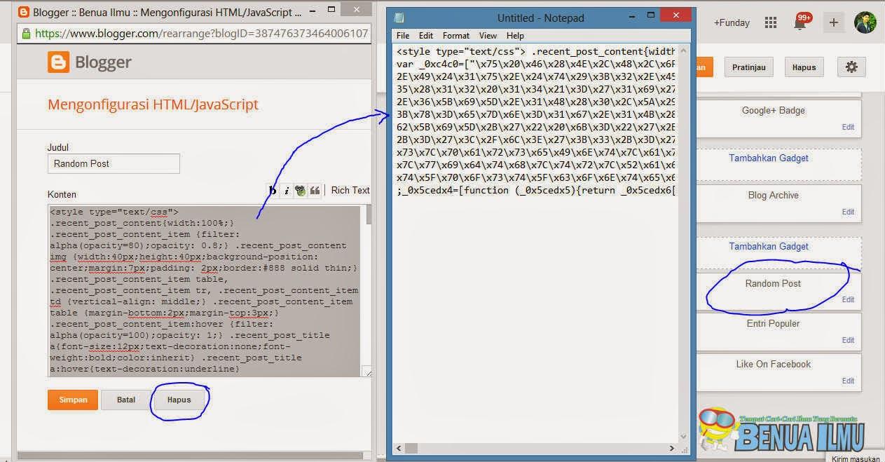 Masalah di blog tidak bisa edit html