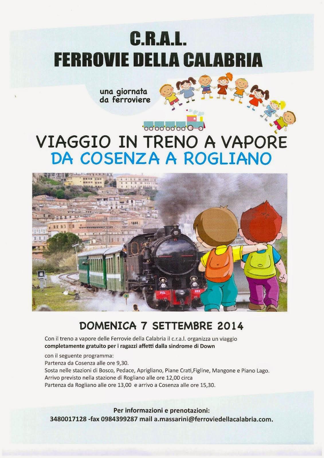 Viaggio in treno a vapore Cosenza - Rogliano