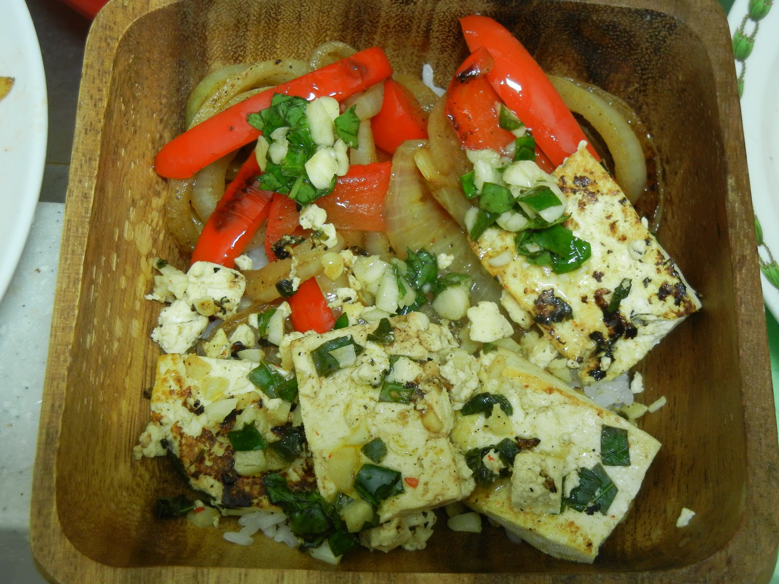 Oven Lovin': Citrus Tofu with Onions and Peppers