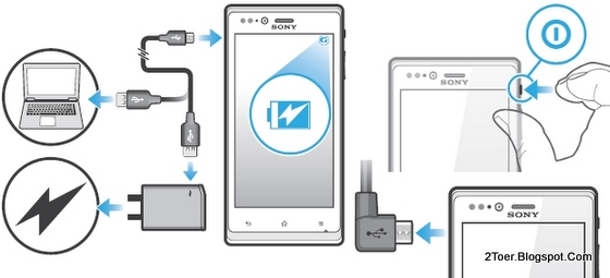 Charge Battery, Power On Sony Xperia J ST26 tutorial