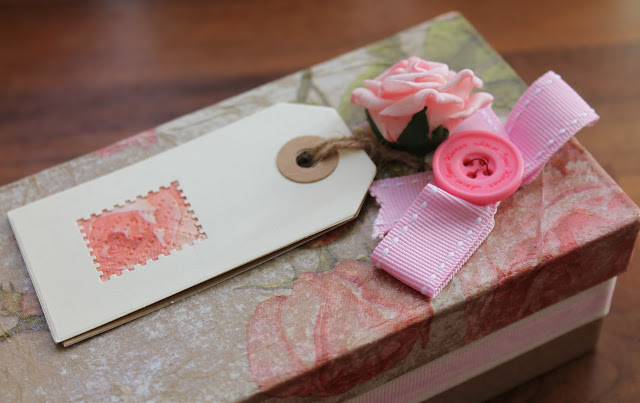 pink and green floral gift box