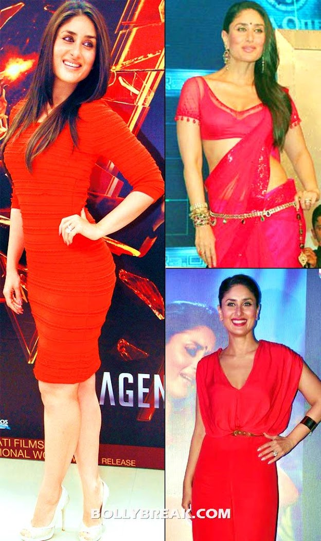 kareena showing off her curves in a hot red dress -  Bollywood Babes no longer size zero
