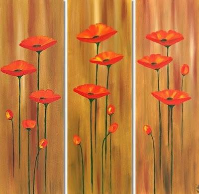 Cuadros modernos pinturas y dibujos cuadro triptico - Cuadros muy modernos ...