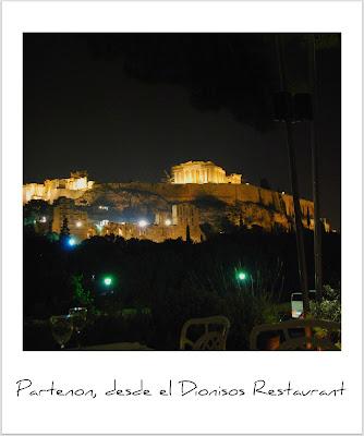 El Partenon de noche