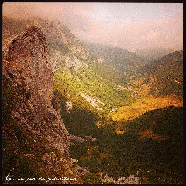 Asturias: Somiedo desde el límite con Babia, León.