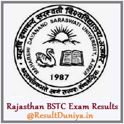 Rajasthan BSTC 1st 2nd Year Result 2015