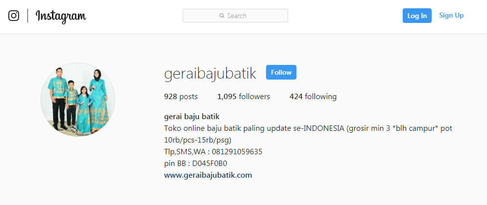 Instagram GeraiBajuBatik