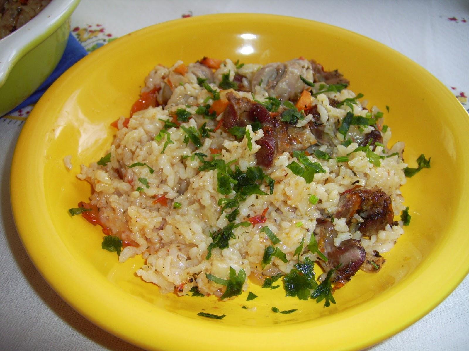 Желудки куриные с рисом рецепт