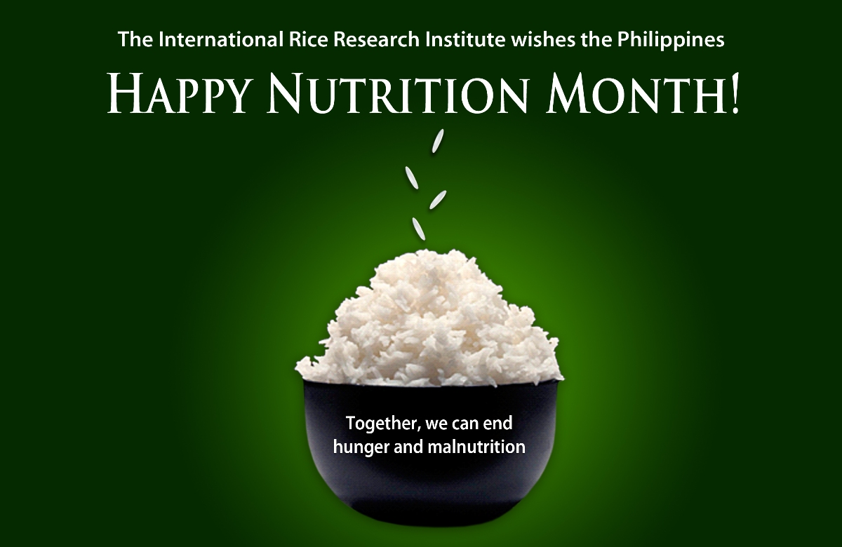 IRRI joins the 39th celebration of the National Nutrition Month in the ...