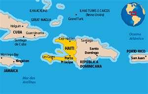 Mapa de Haití y República Dominicana