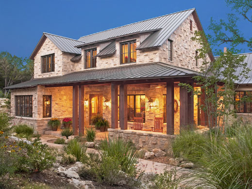 Estilo rustico accesos y puertas rusticas for Texas hill country home designs