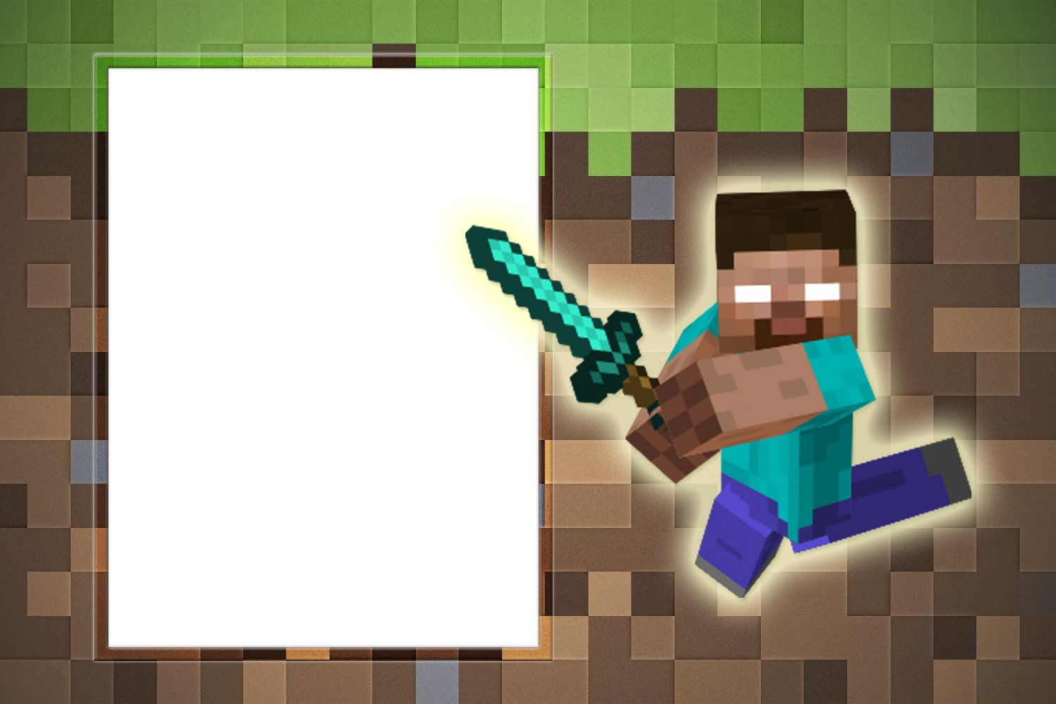 fotomontaje minecraft