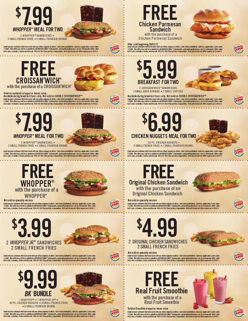 Burger king whangarei coupons