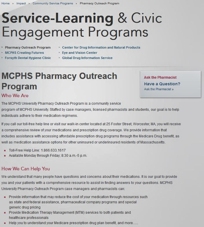http://www.mcphs.edu/impact/community-service-programs/pharmacy-outreach-program