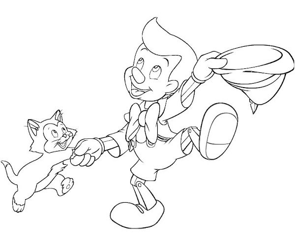 Printable Adventures of Pinocchio Pinocchio Book Coloring Pages