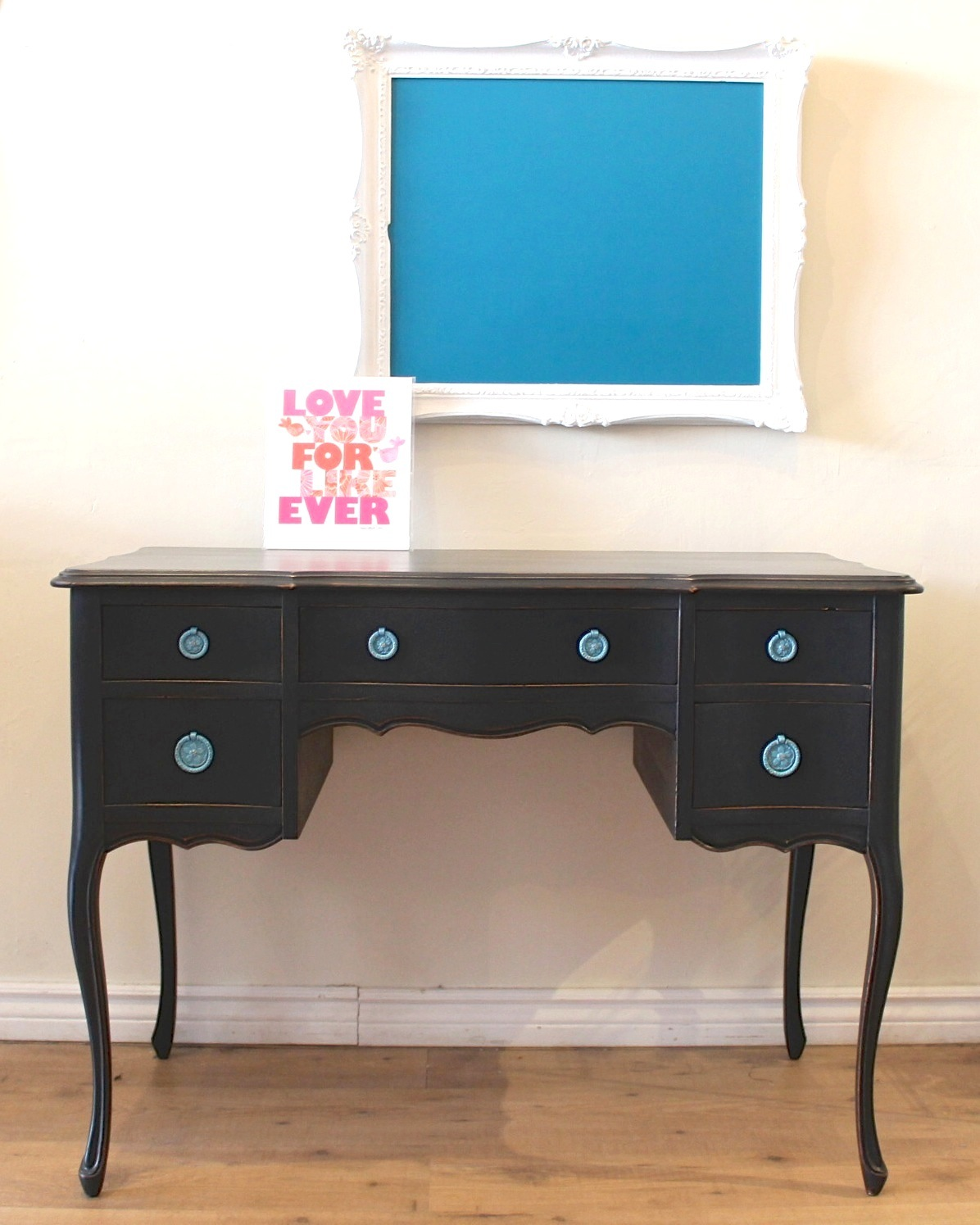 Poppyseed Creative Living Black Writing Desk