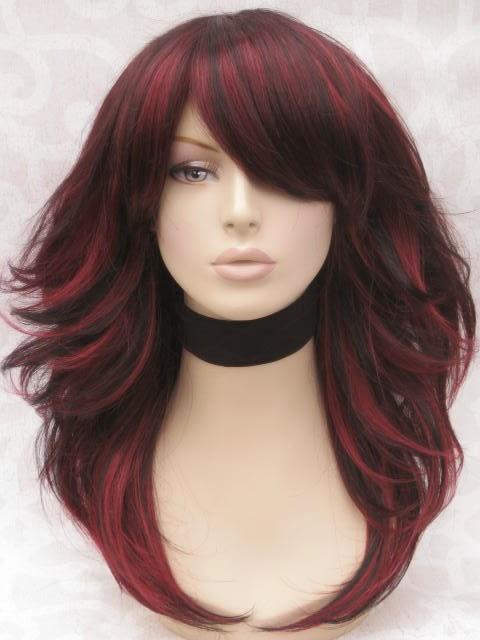 cortes de pelo color rojo vibrante pelo largo 2017