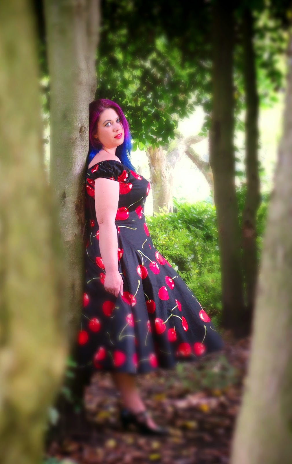 Cherry Stem Dress, plus size fashion,