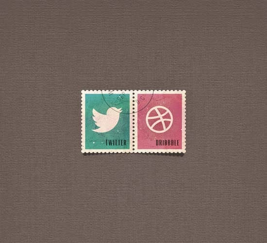 PSD Social Media Postage Stamps