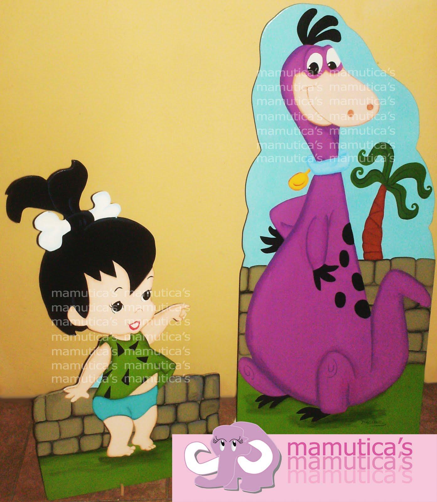 Pebbles Y Dino Picapiedras