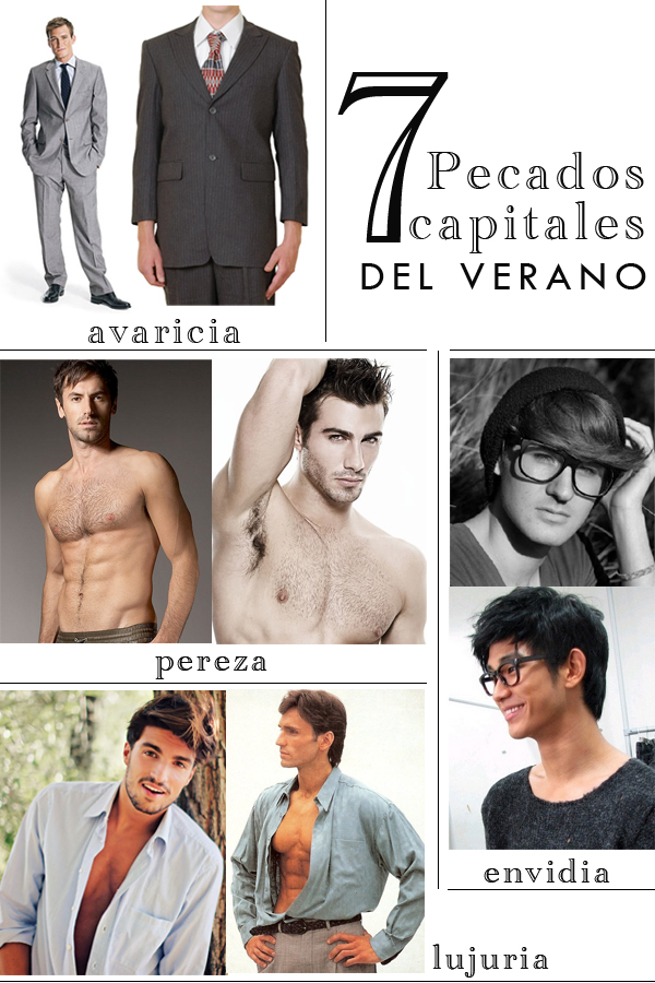 traje, avaricia, depilacion, hipster, pereza, lujuria