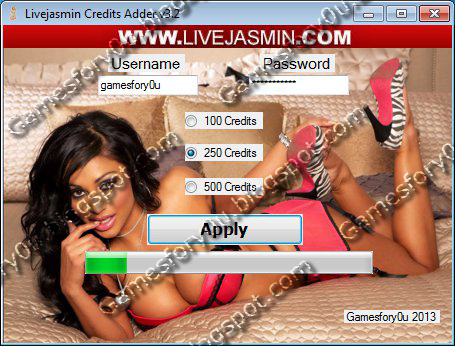 Livejasmin Hack Credits Adder v4.0 [2013] [NEW YEARS EDITION