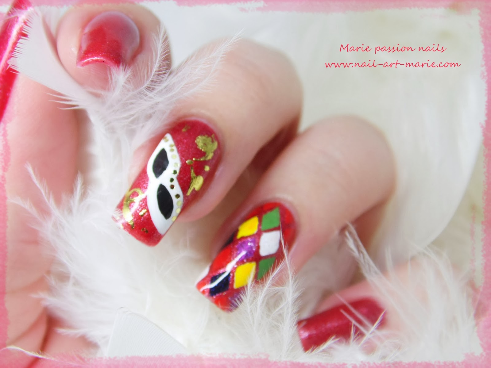 Nail Art Carnaval de Venise4
