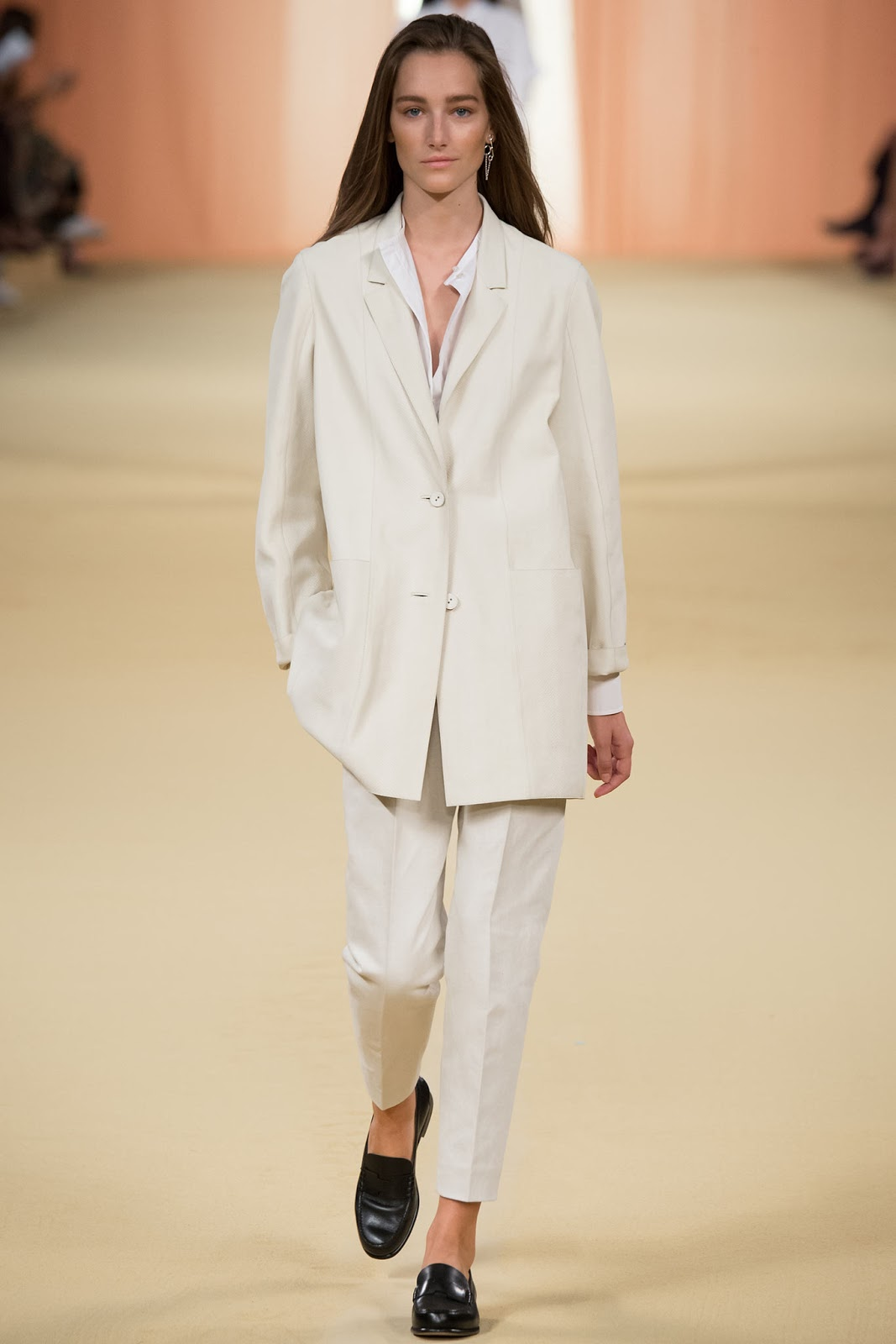 Hermes / Spring/Summer 2015 trends / trouser suit / styling tips and outfit inspiration / via fashioned by love british fashion blog