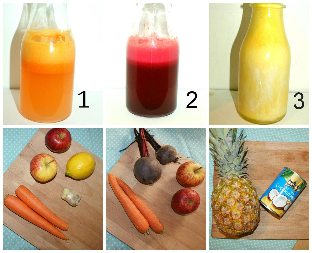 carrot juice, beetroot juice, pineapple juice, juicing, apple juice