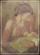 Lukisan Tua Ibu Menyusui