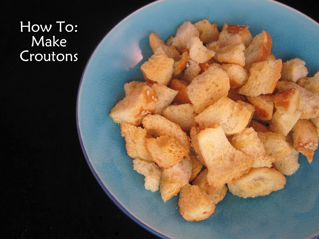 The Apron Gal: How to Make Croutons