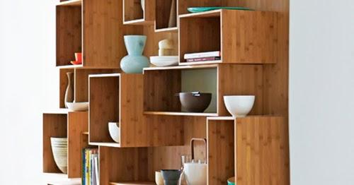 Dise o de mueble funcional de bamb para cocinas peque as - Muebles para cocina pequena ...